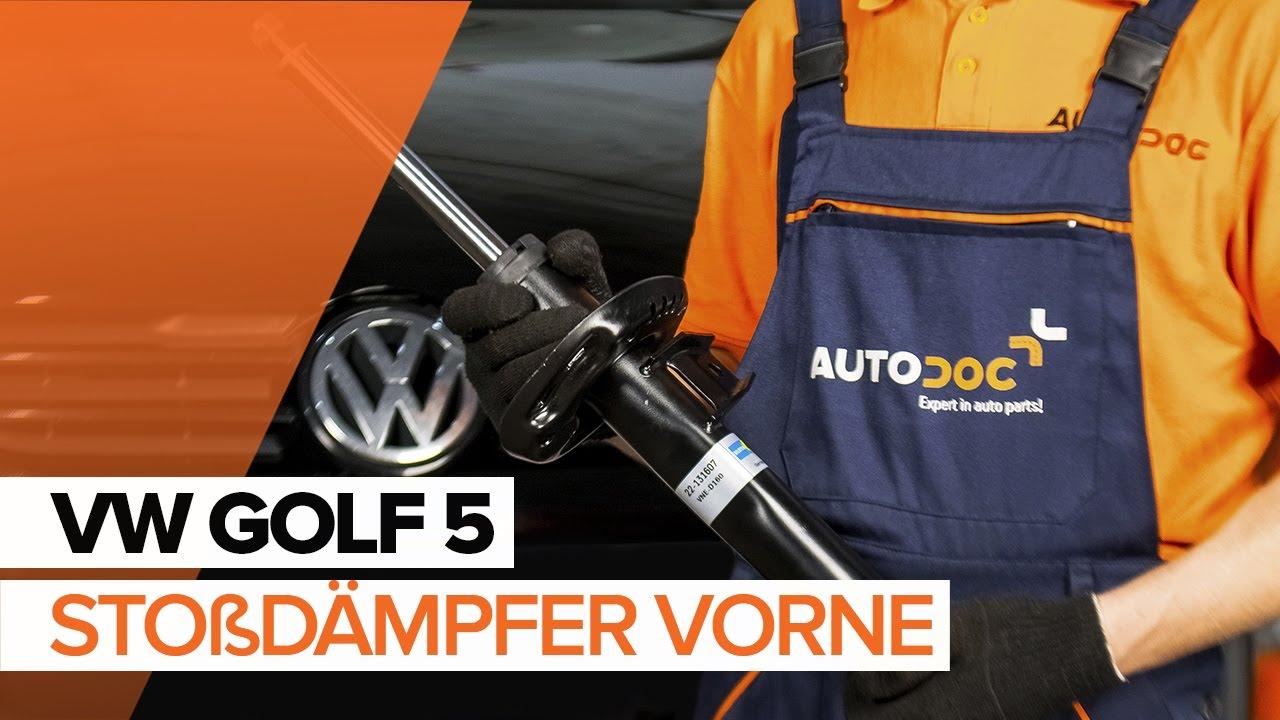 volkswagen golf5 sto d mpfer vorne wechseln mechaniker24. Black Bedroom Furniture Sets. Home Design Ideas