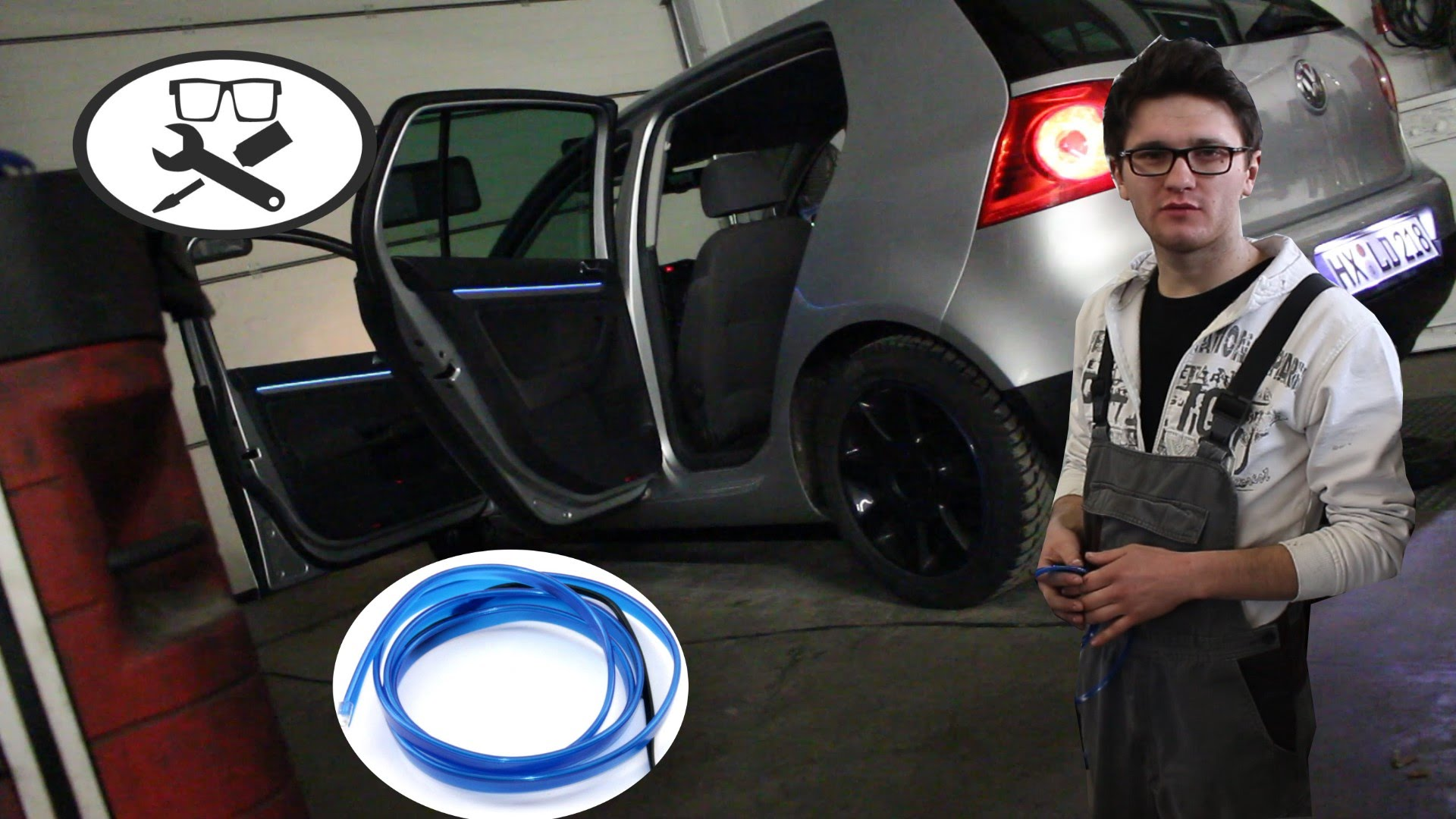 volkswagen golf5 ambientebeleuchtung nachr sten mechaniker24. Black Bedroom Furniture Sets. Home Design Ideas